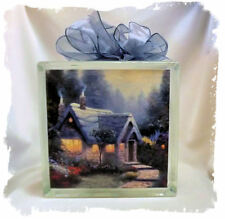 Cedar Nook Cottage _ Thomas Kincade _  Glass Block Light