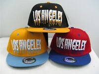New Vintage Flat Bill Los Angeles Two Tone 3D Embroidery Snapback Baseball Cap