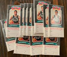 1989-90 San Antonio Spurs Diamond Shamrock Set of 8 - David Robinson RC