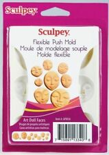 Sculpey® Push Mold- Art Doll Faces - a press mould for use with clay