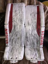 "Vaughn Goalie Pro Stock 36"" Leg Pads White/Red - Ahl Pre-Owned"