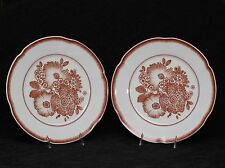 2 (Two) OSCAR DE LA RENTA CORALINA Porcelain Dinner Plates in the
