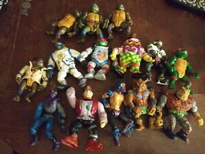 TMNT Teenage Mutant Ninja Turtles Vintage Lot of 14 Loose Figures