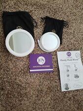 Joy Mangano Handy Hook Mirror 2pk white new in box