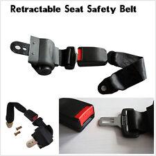 Universal Adjustable Retractable Vehicle 2-Point Auto Car Safety Seat Lap Belt