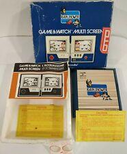 GAME & WATCH MULTI SCREEN RAIN SHOWER NINTENDO LP 57 1983 MANUALE  ITALIANO RARO