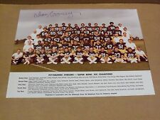 Dan Rooney, Pgh Steelers, Signed 11 x 14 Super Bowl Xiii Champions Team Photo