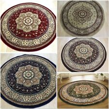 TRADITIONAL ROUND RUG  CLASSIC ORIENTAL CIRCLE LARGE ROUND RUG THICK SOFT PILE