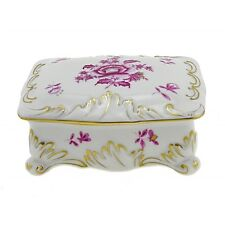 Hungarian Porcelain Herend Nanking Bouquet Decor Covered Dish