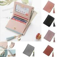 Women Candy Cute Wallet Coin Bag Case Leather Simple Bifold Small Handbag Purse