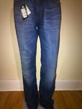 Just Cavalli Mens Luxury Blue Jeans With Flower Studs Details Size UK W36' L34'