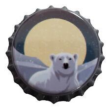 100 Polar Bear Moon Home Brew Beer Bottle Crown Caps Decoration Art Crafts
