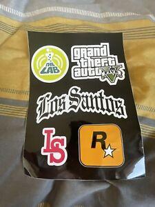 ROCKSTAR GAMES RARE Official GTA 5 Sticker Sheet