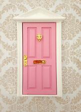 Closed Pink Tooth Fairy Door wooden miniature miniature key