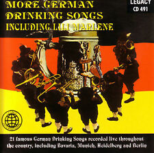 MORE GERMAN DRINKING SONGS: Including Lili Marlene - VARIOUS ARTISTS Gently Used