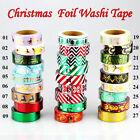 Christmas Foil Washi Tape Set Scrapbooking DIY Sticker decorative Tapes 10m/Roll