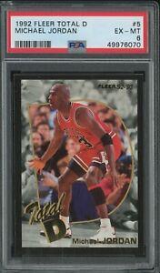 1992-93 Fleer Total D #5 Michael Jordan Chicago Bulls HOF PSA 6 EX-MT