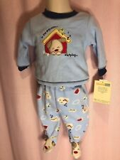 NWT-Vitamin's Baby 3M 3 Months Doghouse dog footed 2 PC Top & Pant Pajamas NN14