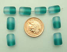 50 aqua two tone cylinder Indian glass beads size (mm) 12 for jewellery making