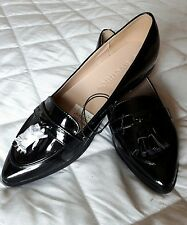 Gorgeous Ladies Patent Leather Black Loafers Size 6