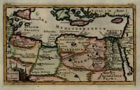 Egypt North Africa Libya Tripoli Cyrenaica Cyrpus Crete Rhodes Sicily 1711 map