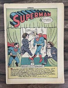 SUPERMAN #27-GOLDEN AGE TOYMAN-DC COMICS-1944-COVERLESS-COMPLETE