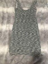 Super Stretch Sexy Bodycon Gray Striped Dress Size S/M