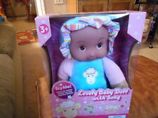 """Uneeda Lovely 10"""" Baby Doll with Song Soft Plush Nursery Rhyme Singing Doll"""