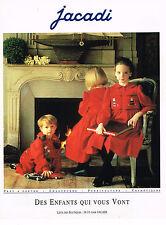 PUBLICITE ADVERTISING 114  1993  JACADI  vetements enfants