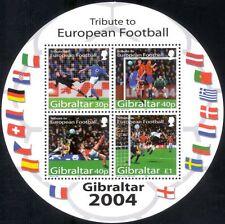 """Gibraltar 2004 """"Euro 2004""""/Football Championships/Sports/Soccer 4v m/s (n17486)"""