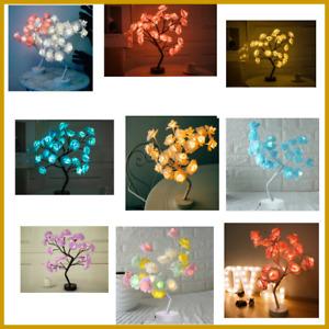 Table Lamp Rose Flower Night Light Bedside CHRISTMAS Creative Home Decor Desk