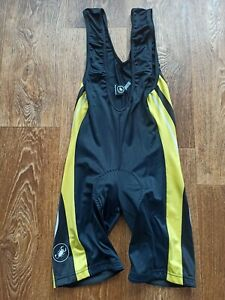 Castelli Bib Shorts Yellow Mens Retro Vintage Rare Made in Italy Cycling Size XL