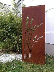 Corten Stahl Edelrost Garten Sichtschutzwand aus Cortenstahl 1.2mm B50H125cm