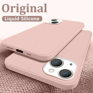 Soft Liquid Silicone Case Cover For iPhone 13 12 Pro Max 11 XS XR X 8 7 6S Plus