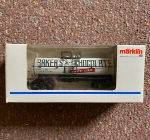 Marklin 4864 HO Baker's Chocolate Tank Car - never used, box excellent
