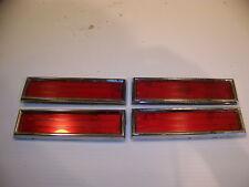 1970 71 72 OLDSMOBILE RED DOOR PANEL REFLECTORS OEM CUTLASS SUPREME 442