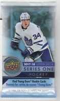 1-2017-18 UPPER DECK SERIES 1 NHL GAME JERSEY / RELIC OR YOUNG GUNS HOT PACK