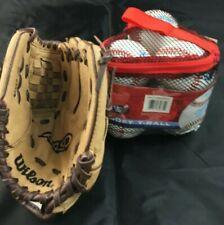 Wilson A450 Pro-tech Padding 10 Inch Leather T-Ball Baseball Glove RHT 6 T Ball