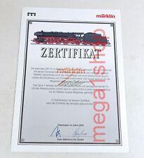 Märklin ZERTIFIKAT 55900 Dampflok BR 01 067 INSIDER CLUB neutral OHNE Namen ! #2