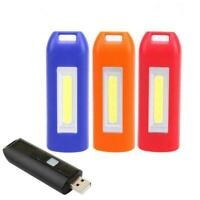 4Color USB Rechargeable Mini COB LED Camping Flashlight Light KeychainFlash G7U9