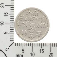 Selten: 1/2 Gulden Danzig 1923 - Silber