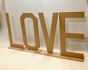 Love Letters, Free standing 4ft High Love Sign, 18mm MDF Love Signs for Weddings