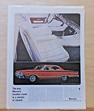 "1964 magazine ad for Mercury - Park Lane with ""racy Marauder styling"" white int."