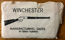 Winchester Gun Manufacturing Dates By Serial Number Old 1860-1932