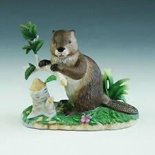 Vintage Lenox Woodland Worker American Beaver Porcelain Figurine