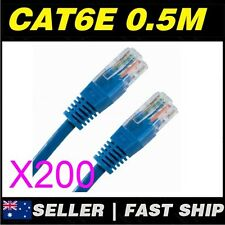 200x 0.5m 1.6ft Cat 6 Cat6 Blue RJ45 Network Cable Home ADSL Phone PS4 Xbox TV