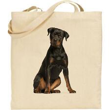 CS Rottweiler (sitting) dog breed cotton shopping/shoulder/beach tote bag gift