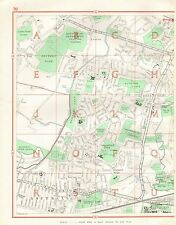 1964 VINTAGE Street Map-C., Southall,