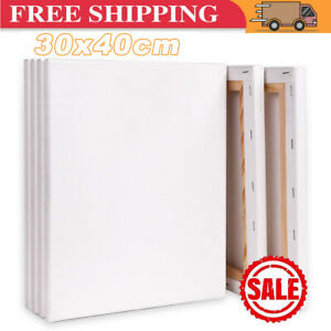 6x Large Blank Artist Canvas Art Board Plain Painting Stretched Framed 30x40CM