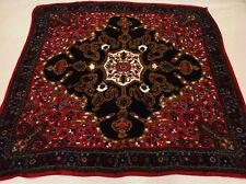 "Magnificent-Vtg Designer-ELLEN TRACEY- 100% Silk Scarve Square Classic 35"""